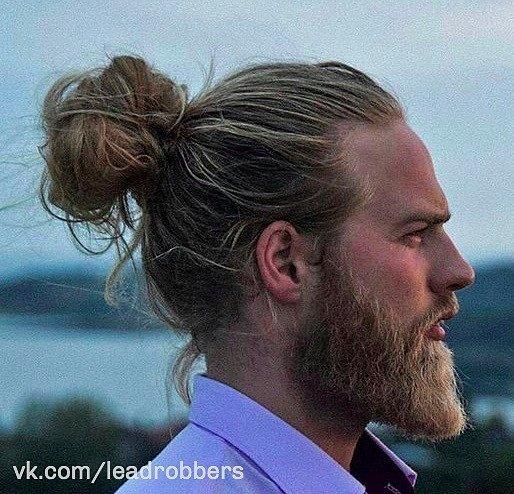 Причёска хвост мужская